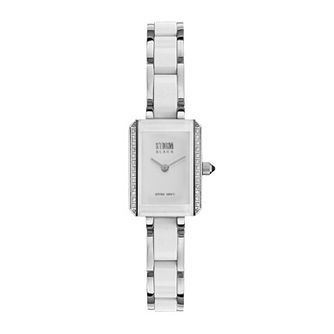 Storm Ladies' White & Stainless Steel Diamond Bracelet Watch - Product number 1062034