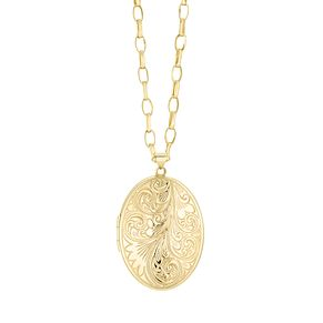9ct Yellow Gold Extra Large 38mm Dome Locket - Product number 1063944