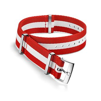 Omega Red and White Nato Strap 19.5mm - Product number 1064355