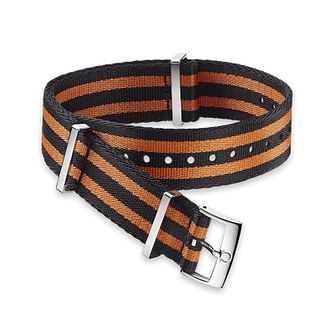 Omega Black and Orange Nato Strap 20mm - Product number 1064460
