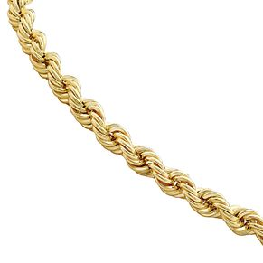9ct Yellow Gold Hollow Rope Bracelet - Product number 1065688