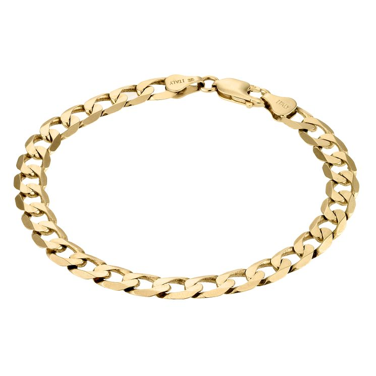"9ct Yellow Gold 8"" Curb Bracelet - Product number 1065726"