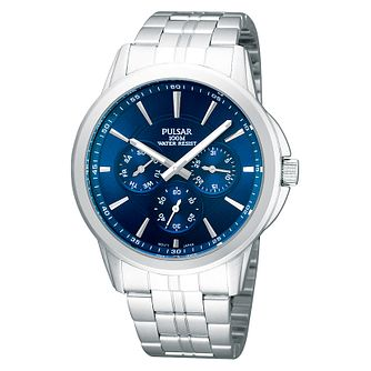 Pulsar Men's Blue Dial Stainless Steel Bracelet Watch - Product number 1065769