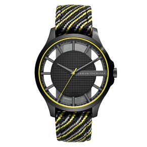 Armani Exchange Hampton Men's Multicolour Fabric Strap Watch - Product number 1066102