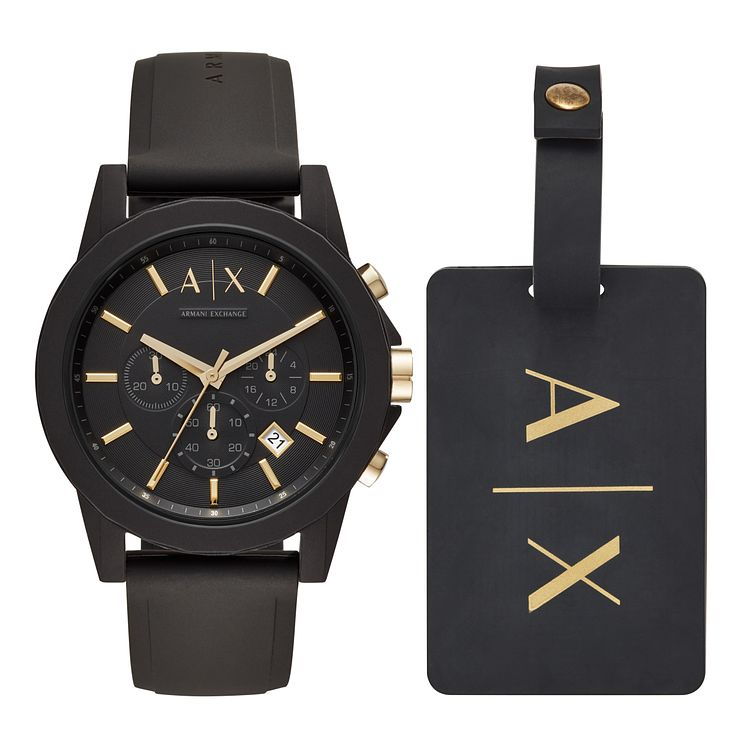 Armani Exchange Outerbanks Men's Silicone Strap Watch Set - Product number 1066145