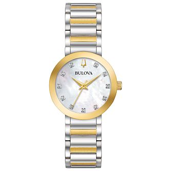 Bulova Modern Ladies' Two Colour Diamond Set Bracelet Watch - Product number 1073710