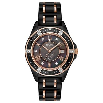 Bulova Marine Star Ladies' Ceramic Two-Tone Bracelet Watch - Product number 1074199