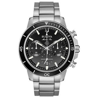 Bulova Men's Stainless Steel Marine Black Bracelet Watch - Product number 1074288