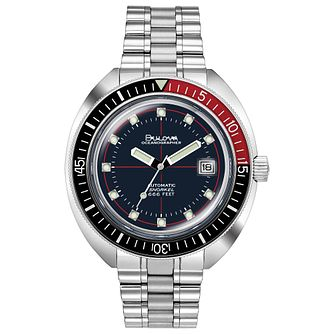 Bulova Devil Diver Men's Oceanographer Stainless Steel Watch - Product number 1074318