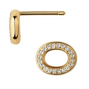 Links of London Ovals 18kt Yellow Gold & Topaz Earrings - Product number 1074385
