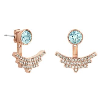 Adore Ladies' Four Point Star Rose Gold Plated Earrings - Product number 1074962