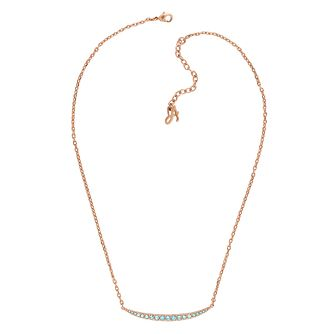 Adore Ladies' Rose Gold Plated Sapphire Crystal Necklace - Product number 1075152