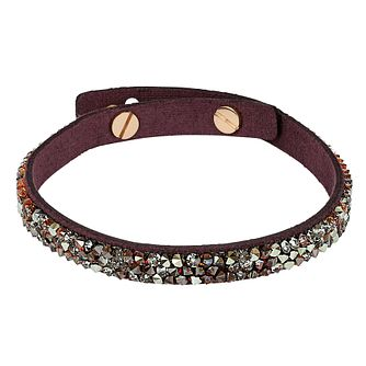 Adore Ladies' Leather Rock Burgundy Bracelet - Product number 1075330