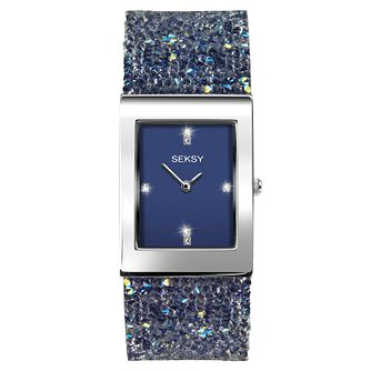 Seksy Rocks® Rhodium Plated Bracelet Watch - Product number 1076175