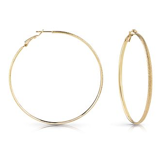 Guess Gold Plated 62mm Glitter Hoop Earrings - Product number 1082418
