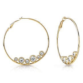 Guess Gold Plated Crystal Hoop Earrings - Product number 1082493