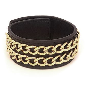 Guess Black Leather Cuff Bracelet - Product number 1082701