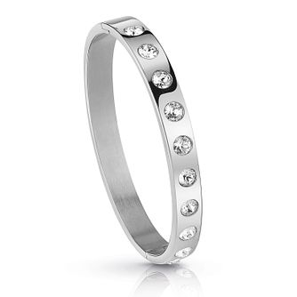 Guess Rhodium Plated Crystal Bangle - Product number 1082744