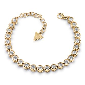 Guess Gold Plated Crystal Tennis Bracelet - Product number 1082809