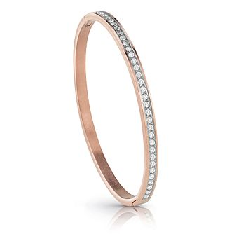 Guess Rose Gold Plated Crystal Bangle - Product number 1082841