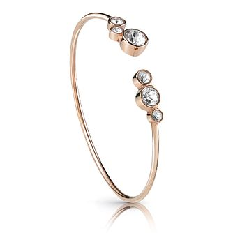 Guess Rose Gold Plated Flexi Crystal Bangle - Product number 1082884