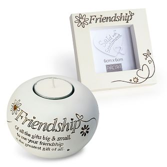 Said With Sentiment Friendship Frame & Tea Light Holder Set - Product number 1083252