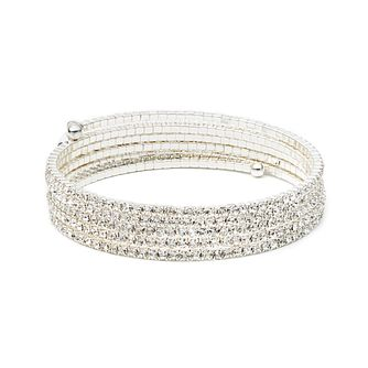 Annie Klein Multirow Stone Crystal Flex Bracelet - Product number 1083279