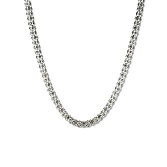 Annie Klein Silver Crystal Pave Necklace 16 Inches - Product number 1083376