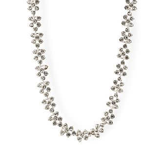 Annie Klein Silver Crystal Stone Collar Necklace - Product number 1083392