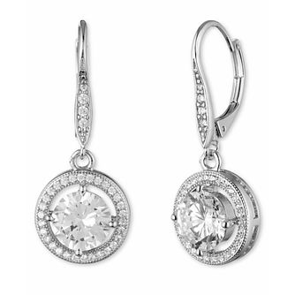Annie Klein Silver Cubic Zirconia Drop Stone Earrings - Product number 1083449