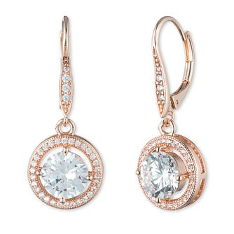 Annie Klein Rose Gold Cubic Zirconia Drop Stone Earrings - Product number 1083457
