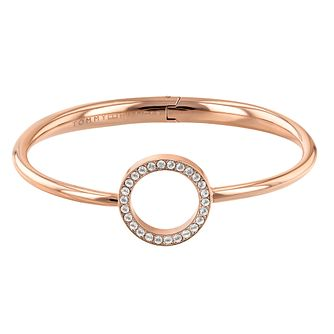 Tommy Hilfiger Rose Gold Plated Open Circle Bangle - Product number 1083597