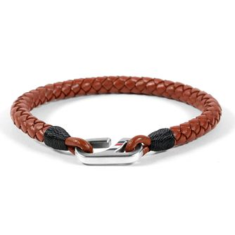 Tommy Hilfiger Brown Leather Hook Bracelet - Product number 1083724