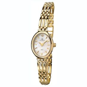 Accurist 9ct Gold Oval Bracelet Watch - Product number 1084291