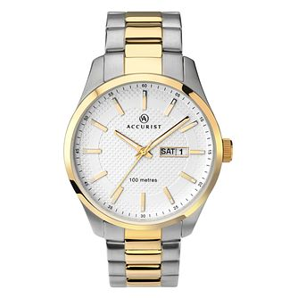 Accurist Men's Stainless Steel Two Tone Bracelet Watch - Product number 1084364