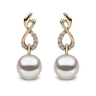 Yoko London 18ct Gold Cultured Freshwater Pearl Earrings - Product number 1084763