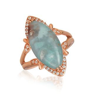 Le Vian 14ct Strawberry Gold Peacock Aquaprase & Topaz Ring - Product number 1087258