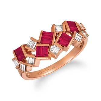 Le Vian 14ct Strawberry Gold Passion Ruby & Diamond Ring - Product number 1089986