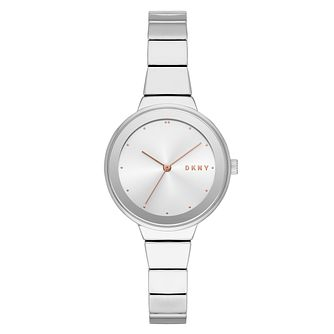 DKNY Astoria Ladies' Silver Alloy Bracelet Watch - Product number 1092332