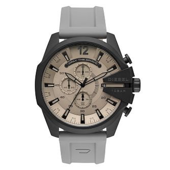 Diesel Mega Chief Men's Grey Silicone Strap Watch - Product number 1092375