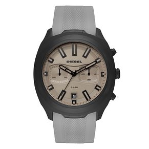 Diesel Tumbler Men's Grey Silicone Strap Watch - Product number 1092383