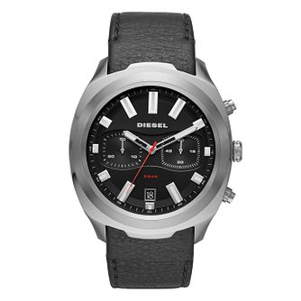Diesel Tumbler Men's Black Leather Strap Watch - Product number 1092391