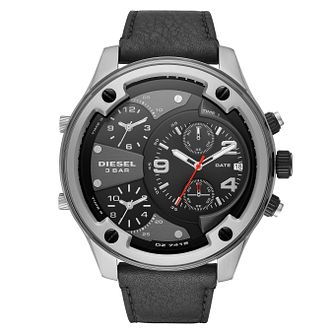Diesel Boltdown Men's Black Leather Strap Watch - Product number 1092421