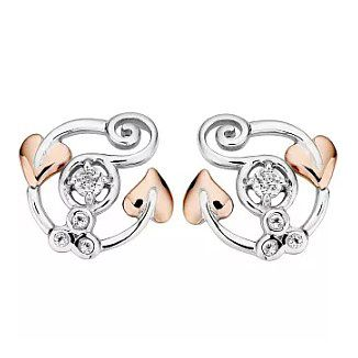 Clogau Silver & 9ct Rose Gold Origin Earrings - Product number 1092561