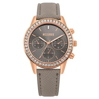 Missguided Ladies' Rose Gold Tone Multi-Dial Strap Watch - Product number 1097822