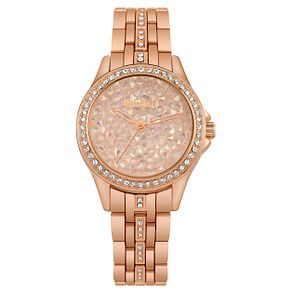 Missguided Ladies' Crystal Rose Gold Tone Bracelet Watch - Product number 1098144