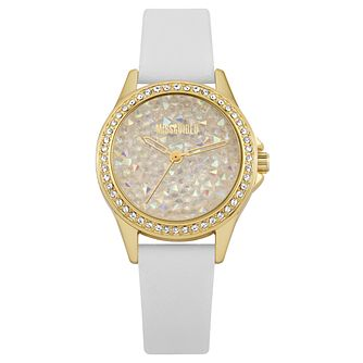 Missguided Ladies' Crystal White PU Strap Watch - Product number 1098160