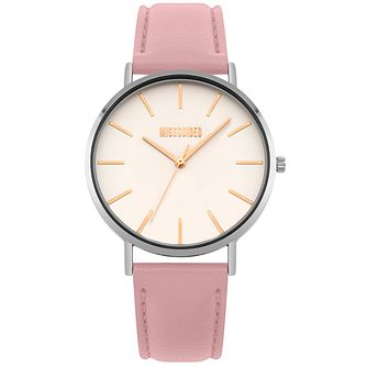 Missguided Ladies' Two-Tone Pink PU Strap Watch - Product number 1098322
