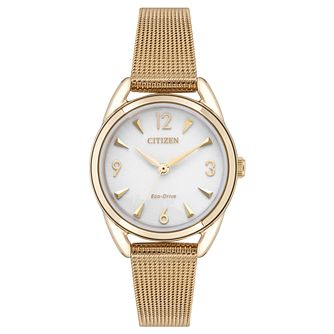 Citizen Eco-Drive Ladies' Rose Gold Plated Bracelet Watch - Product number 1098462