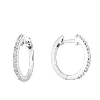 Silver 1/10ct Diamond Hoop Earrings - Product number 1098969